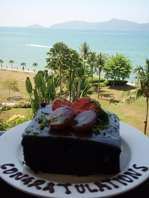free cake on our balcony