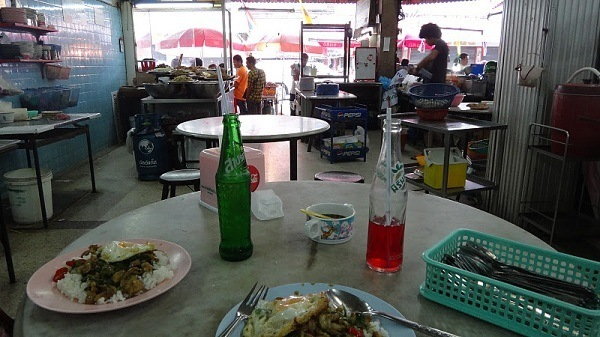 Our first Thai meal in Thailand - Thank you Hat Yai