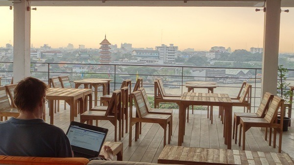 An office with a beautiful view in Bangkok