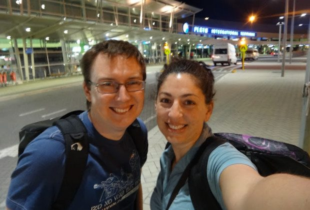 Tanya and Andrew at the Perth Airport - Off we go!