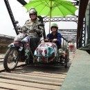 side car on the river Kwai Thailand