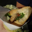 Chicken, Cheese and Salad Baguette - A Hardy Dinner