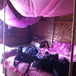 Nong Khiaw - Sunrise Bungalows Pink Bed