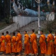 The early morning alms giving ceremony is a Luang Prabang tradition. Each day a procession of dozens of saffron robed monks snake through the center of town collecting donations of food for them to eat later in the day. In other parts, monks go out in groups of one to...