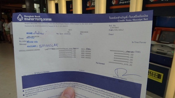Bangkok Bank Changes Lao Kip to Thai Baht