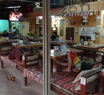 People Hanging Out in Friends Bar in Vang Vieng