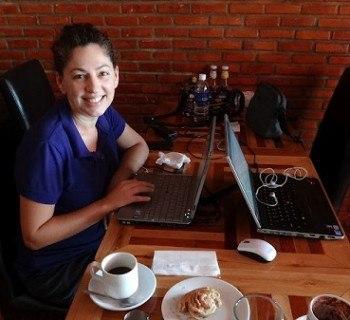 Working at the Scandinavian Bakery in Vientiane, Laos