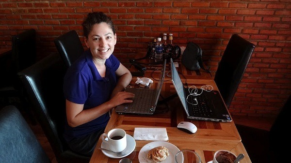 Working at the Scandinavian Bakery in Vientiane, Laos