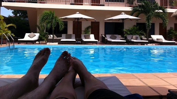 Beach Club Resort Sihanoukville - Lazing By The Pool Side