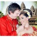 Khmer Traditional Costume - Romance At Angkor Wat small