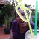 Sihanoukville - Sandan Restaurant - Tanya With Drink
