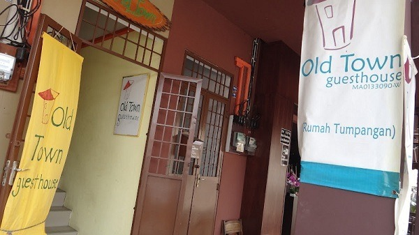 The Front Door Of The Old Town Guesthouse in Melaka