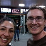 Excited Tanya and Andrew About To Head Into The Radiohead Concert