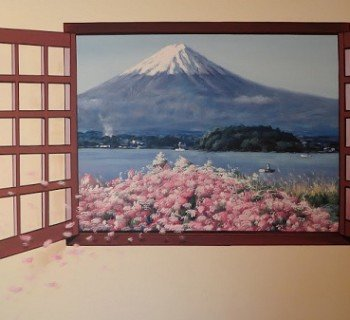 Beautiful Hand Painted Artwork at Mei Jen House