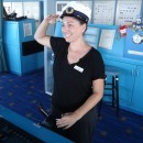 Tanya Steering The Legends Of The Sea Cruise Ship