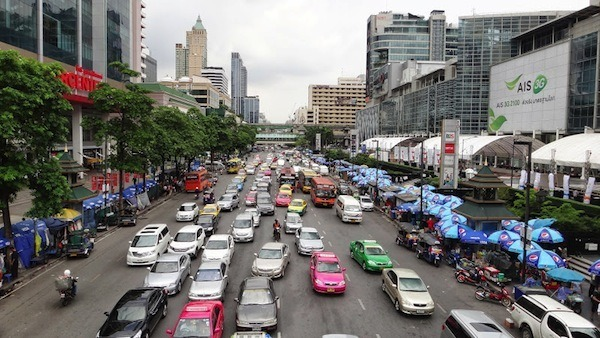 Not Even Peak Hour Traffic In Bangkok