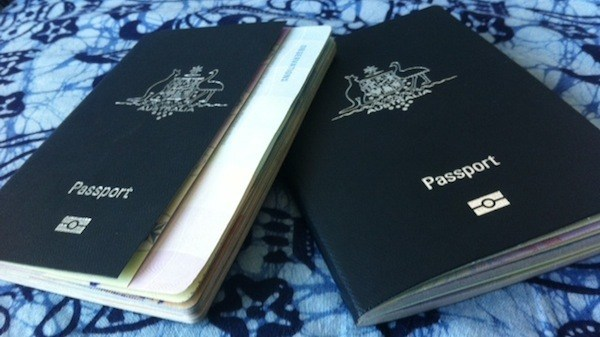 Old and New Australian Passports