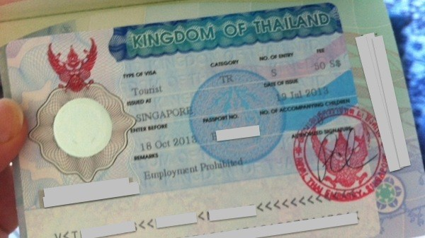 Thailand Tourist Visa From Singapore
