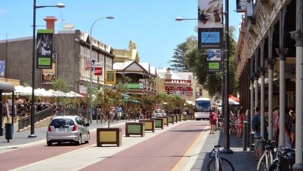 Fremantle's famous cappuccino strip