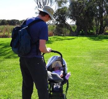 Andrew Boken Backpack Pram Park