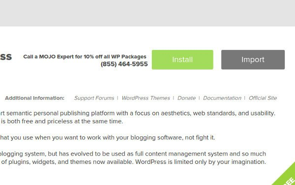 create a travel blog: install wordpress