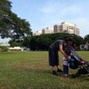Pockit Stroller On Grass Singapore
